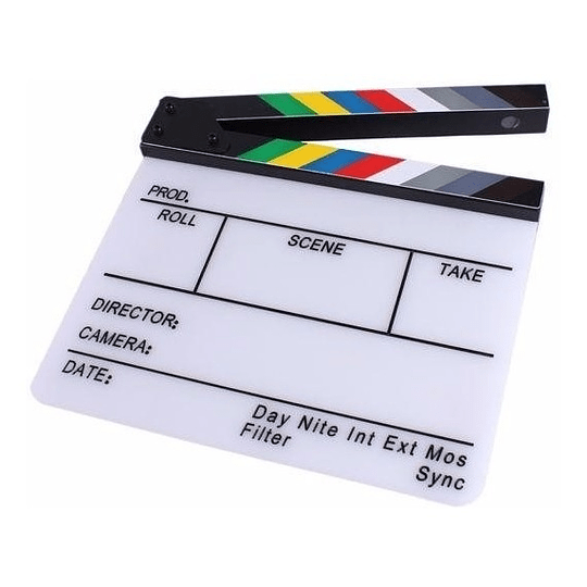 POWERWIN CLAPPERBOARD-AC Claqueta Acrílica de Cine Profesional 30x25 - Image 1