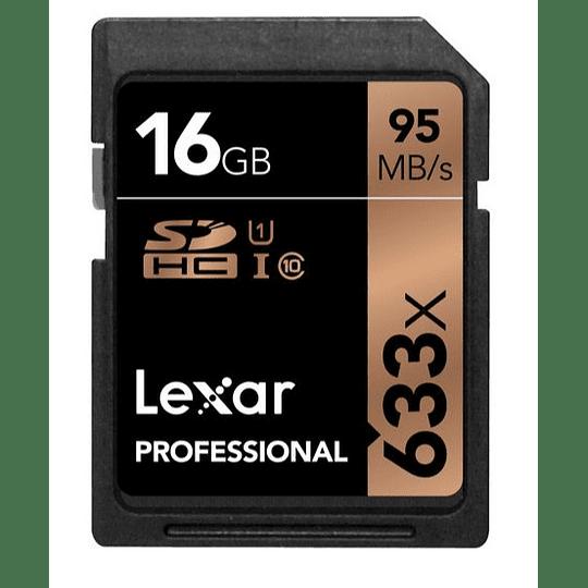 LEXAR MEMORIA 16GB PROFESSIONAL 633X UHS-I SDHC - Image 1