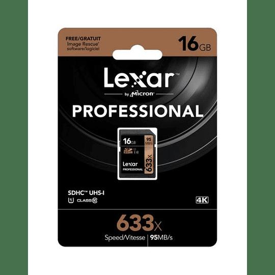LEXAR MEMORIA 16GB PROFESSIONAL 633X UHS-I SDHC - Image 2