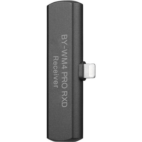 BOYA BY-WM4 PRO-K3 Digital Wireless Kit Micrófono Omni Lavalier con Sistema Lightning iOS (2.4 GHz) - Image 4