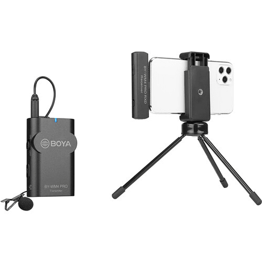 BOYA BY-WM4 PRO-K3 Digital Wireless Kit Micrófono Omni Lavalier con Sistema Lightning iOS (2.4 GHz) - Image 9