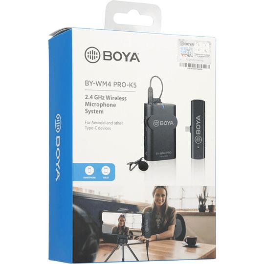 BOYA BY-WM4 PRO-K5 Digital Wireless Kit Micrófono Omni Lavalier con Sistema USB-C (2.4 GHz) - Image 9