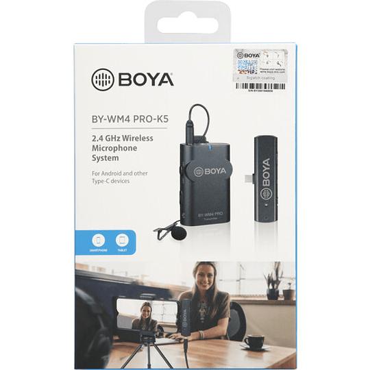BOYA BY-WM4 PRO-K5 Digital Wireless Kit Micrófono Omni Lavalier con Sistema USB-C (2.4 GHz) - Image 10