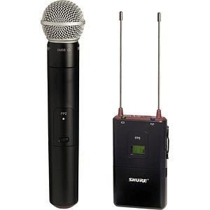 Shure FP25/SM58 Sistema de Micrófono de Mano Cardioide Inalámbrico para Montaje en Cámara (G5: 494 to 518 MHz)