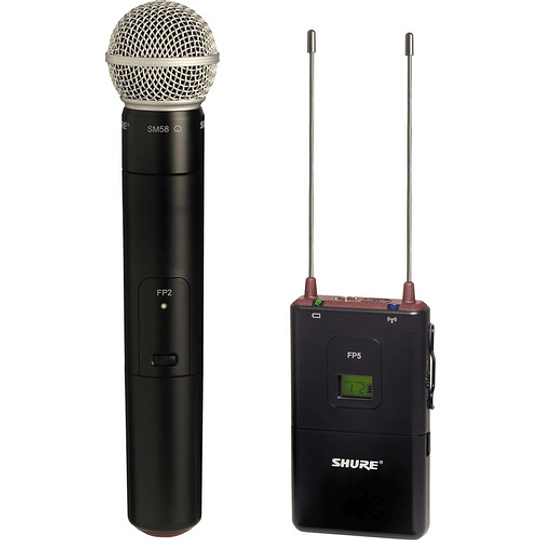 Shure FP25/SM58 Sistema de Micrófono de Mano Cardioide Inalámbrico para Montaje en Cámara (G5: 494 to 518 MHz) - Image 2