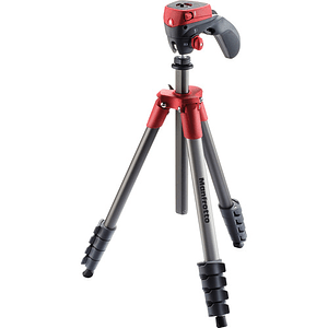 Manfrotto Compact Action Red Trípode de Aluminio