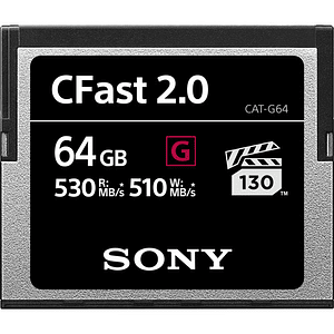 Sony 64GB CFast 2.0 G Series Tarjeta de Memoria