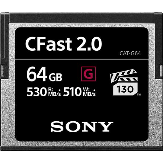 Sony 64GB CFast 2.0 G Series Tarjeta de Memoria  - Image 1
