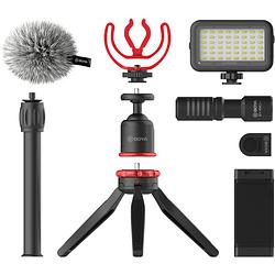BOYA BY-VG350 Vlogger Kit Plus (PL30 LED /T1 Trípode /C12 Shoe Mount /MM1+ Mic Plus)