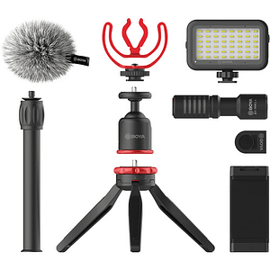 BOYA BY-VG350 Vlogger Kit Plus (PL30 LED /T1 Trípode /C12 Shoe Mount /MM1+ Mic Plus)