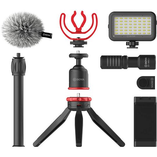 BOYA BY-VG350 Vlogger Kit Plus (PL30 LED /T1 Trípode /C12 Shoe Mount /MM1+ Mic Plus) - Image 1