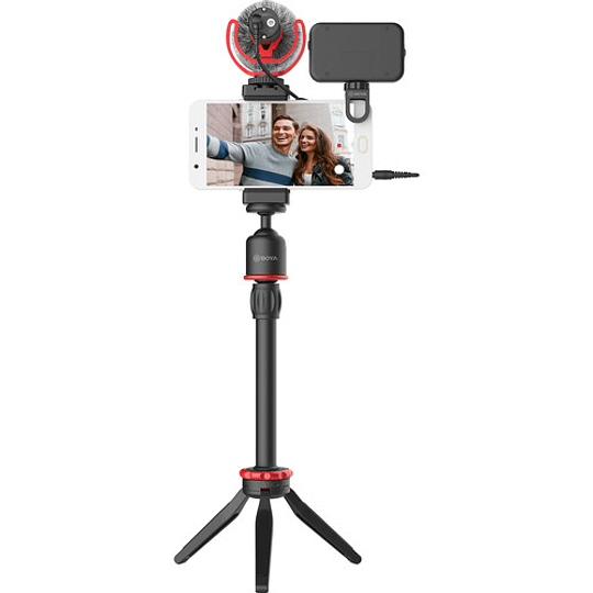 BOYA BY-VG350 Vlogger Kit Plus (PL30 LED /T1 Trípode /C12 Shoe Mount /MM1+ Mic Plus) - Image 3