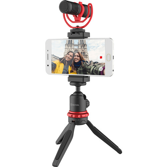 BOYA BY-VG350 Vlogger Kit Plus (PL30 LED /T1 Trípode /C12 Shoe Mount /MM1+ Mic Plus) - Image 4