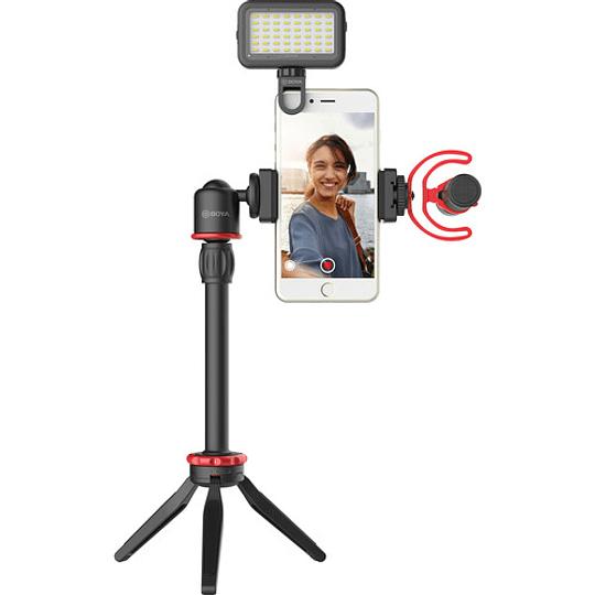 BOYA BY-VG350 Vlogger Kit Plus (PL30 LED /T1 Trípode /C12 Shoe Mount /MM1+ Mic Plus) - Image 5
