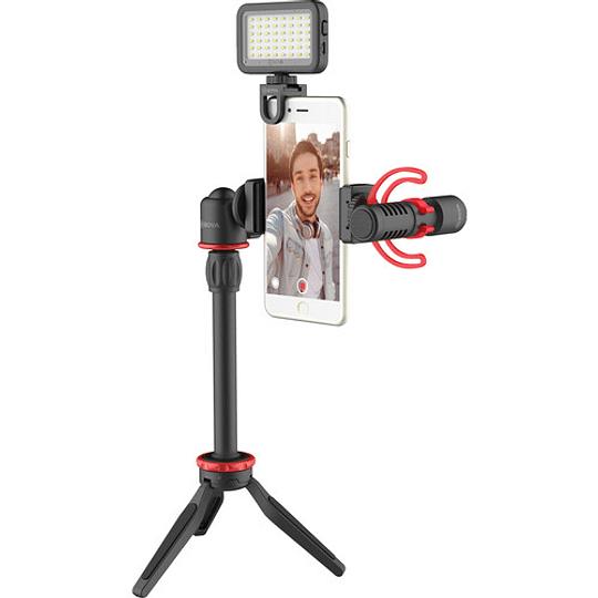 BOYA BY-VG350 Vlogger Kit Plus (PL30 LED /T1 Trípode /C12 Shoe Mount /MM1+ Mic Plus) - Image 6