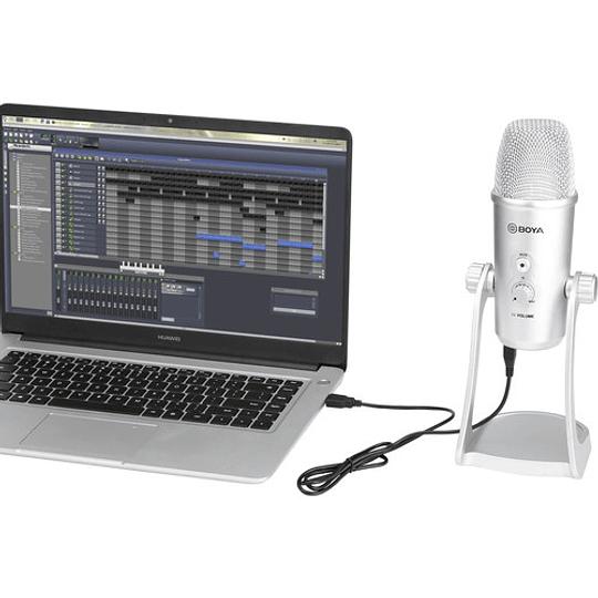 BOYA BY-PM700SP Micrófono de Condensador USB Multipatrón (iOS/Android, Mac/Windows) - Image 10
