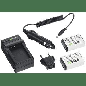 Wasabi Power KIT-BTR-LPE12-LCH-LPE12-01 Pack de 2 Baterías LP-E12 para Canon