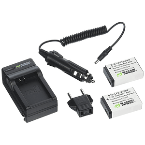 Wasabi Power LP-E12 Kit de Baterías y Cargador para Canon / KIT-BTR-LPE12-LCH-LPE12-01