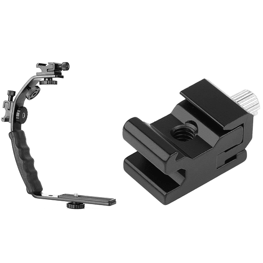 POWERWIN PW-K283 Bracket en L Video Grip con Doble Zapata - Image 4