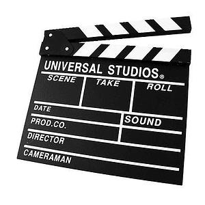 Powerwin CLAPPERBOARD-BW Claqueta de Cine negra de Madera