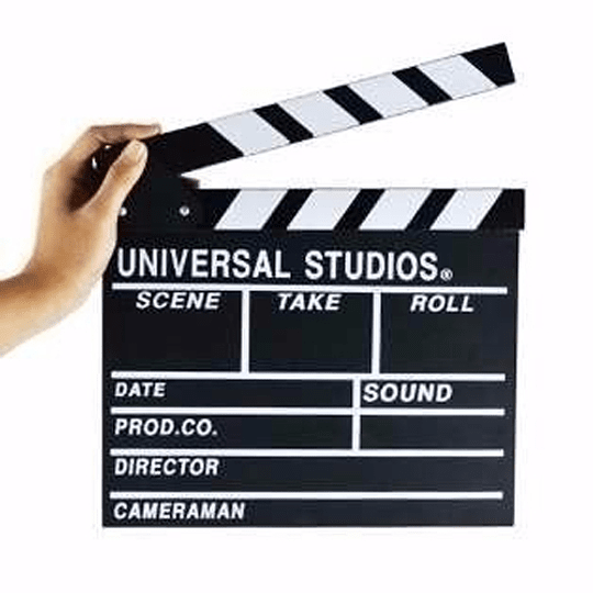 Powerwin CLAPPERBOARD-BW Claqueta de Cine de Madera (2da SELECCION) - Image 2