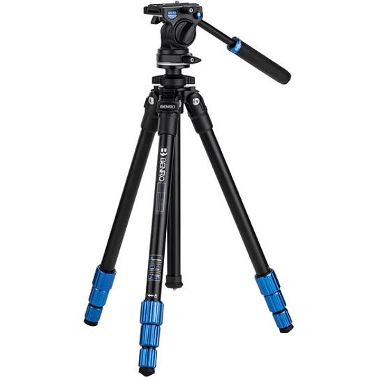 BENRO TSL08AS2CSH Kit SLIM Trípode de Aluminio y Cabezal de Video - Image 1