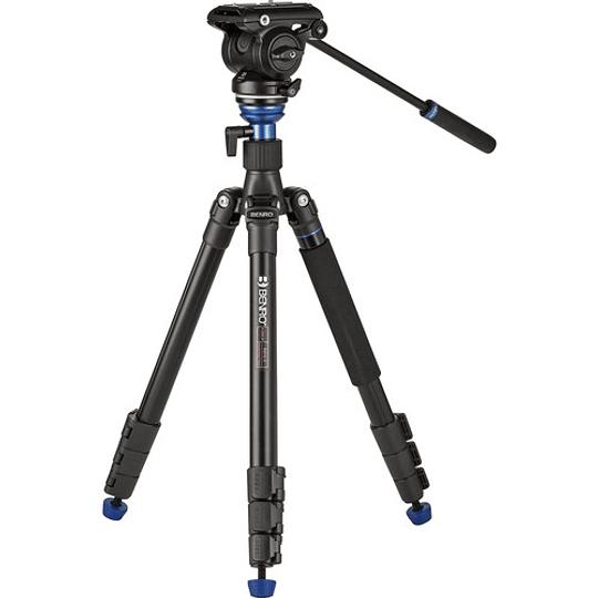 BENRO A2883FS4PRO Kit Trípode + Monopie de Video Fluido - Image 1