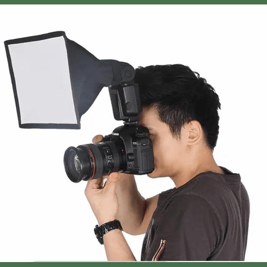 POWERWIN PW-K187 Difusor Flash Softbox Plegable 20x30cm Universal - Image 5