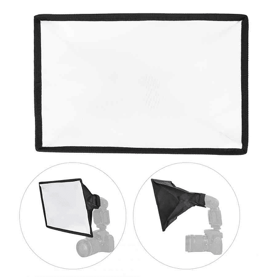 POWERWIN PW-K187 Difusor Flash Softbox Plegable 20x30cm Universal - Image 6