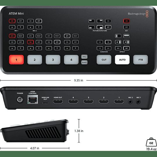 Blackmagic Design ATEM Mini HDMI Live Stream Switcher - Image 3