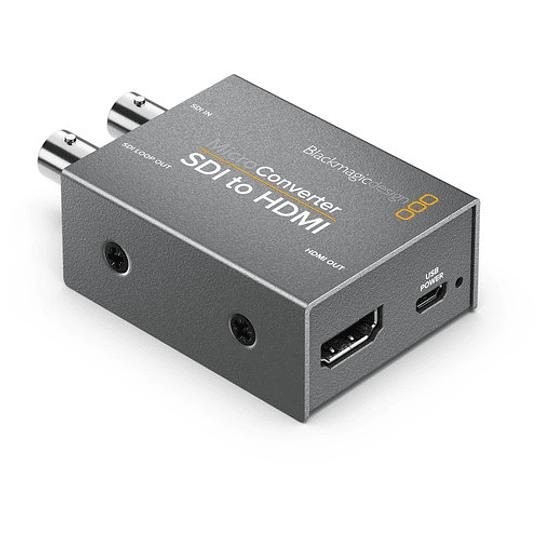 Blackmagic Design CONVCMIC/SH/WPSU Micro Converter SDI a HDMI con Power Supply - Image 1