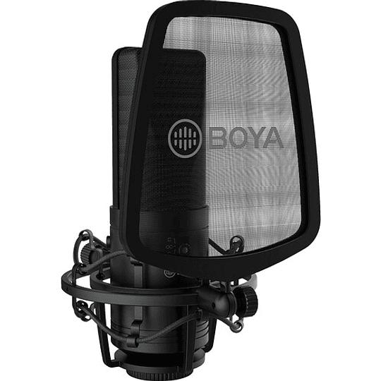 BOYA BY-M1000 Micrófono Condensador de Estudio Multipatrón de Gran Diafragma - Image 1