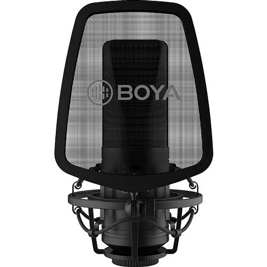 BOYA BY-M1000 Micrófono Condensador de Estudio Multipatrón de Gran Diafragma - Image 2