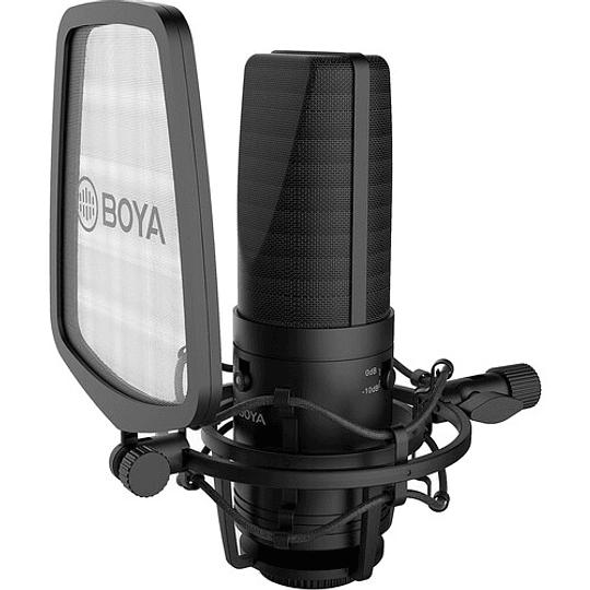 BOYA BY-M1000 Micrófono Condensador de Estudio Multipatrón de Gran Diafragma - Image 4