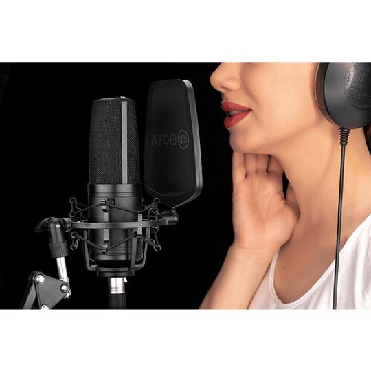 BOYA BY-M1000 Micrófono Condensador de Estudio Multipatrón de Gran Diafragma - Image 9