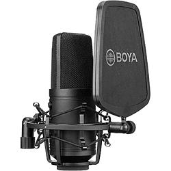 BOYA BY-M800 Micrófono Condensador de Estudio de Gran Diafragma
