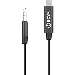 BOYA BY-K2 Cable Adaptador TRS Macho a USB Tipo C de 3,5mm (7,9