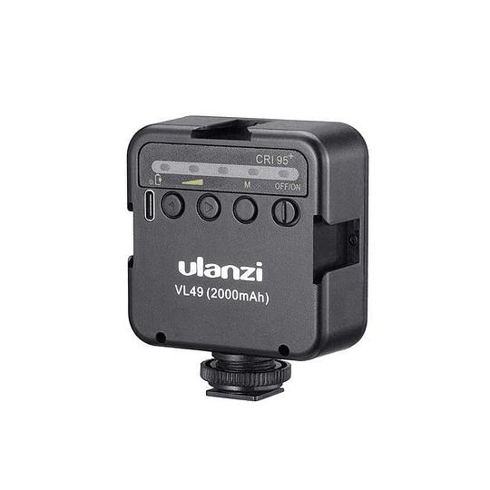 Ulanzi VL-49 Mini LED Recargable con Batería Recargable (2000mAh, 5500K, CRI95+) - Image 2