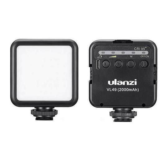 Ulanzi VL-49 Mini LED Recargable con Batería Recargable (2000mAh, 5500K, CRI95+) - Image 4