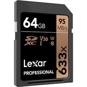 Lexar 64GB Professional 633x UHS-I SDXC Tarjeta de Memoria