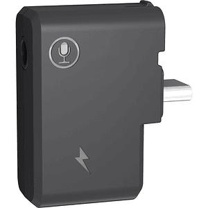 CYNOVA Adaptador de micrófono de 3,5mm con entrada de carga para Insta360 ONE X2