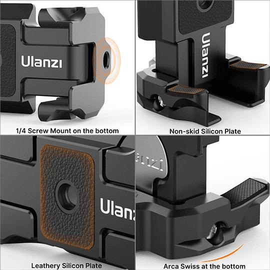 Ulanzi ST-15 Quick Release 2 en 1 - Plato Arca Swiss y Soporte para Smartphone en Trípode - Image 6