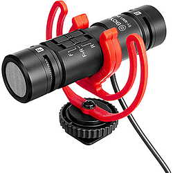 BOYA BY-MM1 PRO Micrófono Shotgun Ultra Compacto de Doble Cápsula y Doble Dirección