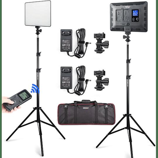 Viltrox VL-200 Bi-2 Kit de 2 Panel Led 30W/2450Lux Regulable 3300K-5600K LED CRI 95+ - Image 1