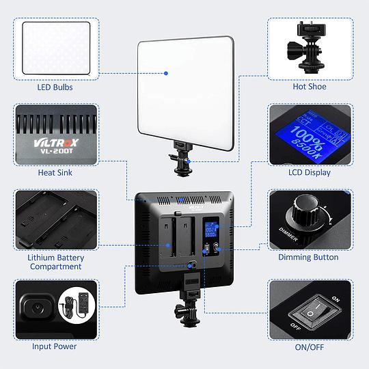 Viltrox VL-200 Bi-2 Kit de 2 Panel Led 30W/2450Lux Regulable 3300K-5600K LED CRI 95+ - Image 6