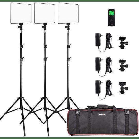 Viltrox VL-200 Bi-3 Kit de 3 Panel Led 30W/2450Lux Regulable 3300K-5600K LED CRI 95+ - Image 1
