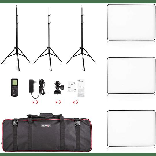 Viltrox VL-200 Bi-3 Kit de 3 Panel Led 30W/2450Lux Regulable 3300K-5600K LED CRI 95+ - Image 2