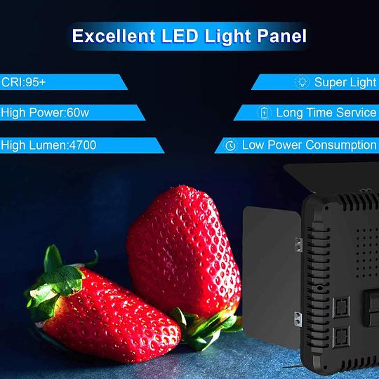 Viltrox VL-192 Bi-2 Kit de 2 Panel Led 45W/4700 lm Regulable 3300K-5600K LED CRI 95+ - Image 7