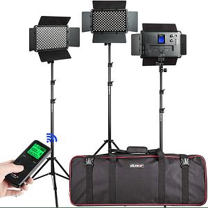 Viltrox VL-192 Bi-3 Kit de 3 Panel Led 45W/4700 lm Regulable 3300K-5600K LED CRI 95+