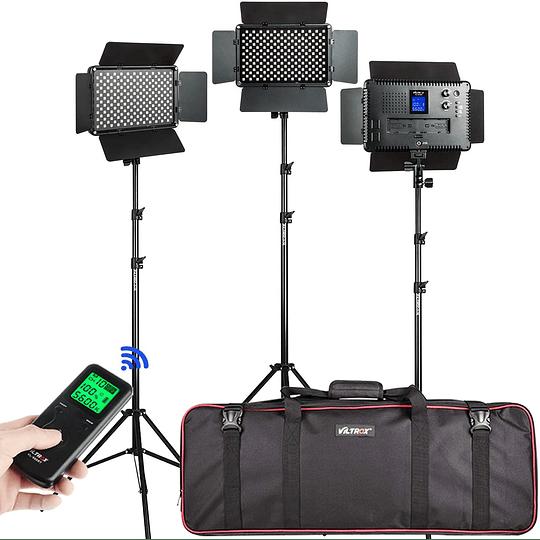 Viltrox VL-192 Bi-3 Kit de 3 Panel Led 45W/4700 lm Regulable 3300K-5600K LED CRI 95+ - Image 1